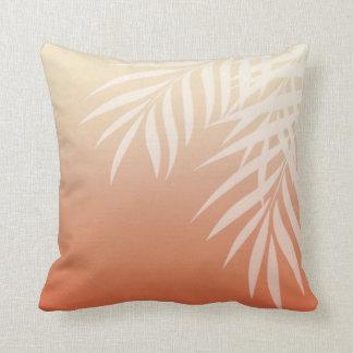 Summer Breeze Ombre Palm Fronds | peach Cushion
