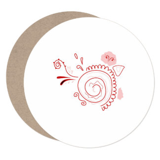 SUMMER BRIDAL Party Invitation / Recycle Red Henna