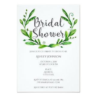 Summer bridal shower invitation. Garden party Card