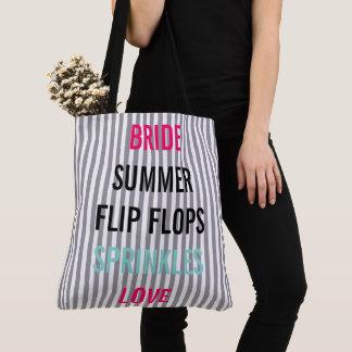 Summer Bride Sprinkle Party Tote Bag