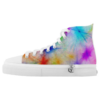 Summer bright paint color high tops