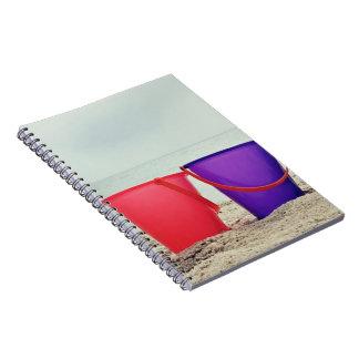 Summer Bucket List, Sand Pails at the Ocean Spiral Notebook