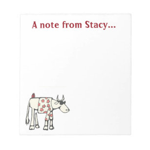 Summer Bull Personalised Notepad