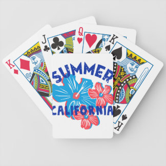summer california bicycle playing cards