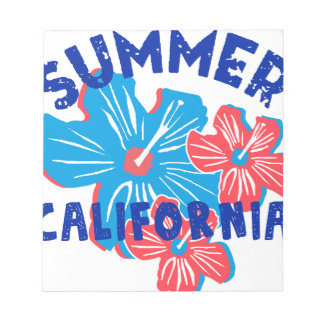 summer california notepad
