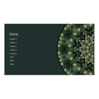 Summer Camouflage Kaleidoscope Business Card