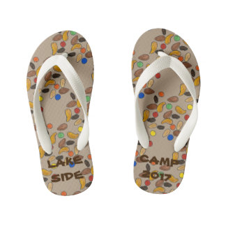 Summer Camp Custom Trail Mix Camping Hiking Camper Kid's Thongs