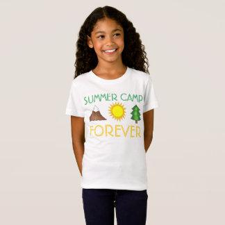 Summer Camp Forever Sun Mountain Tree Camping T-Shirt