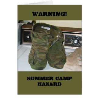 Summer Camp Hazard Card