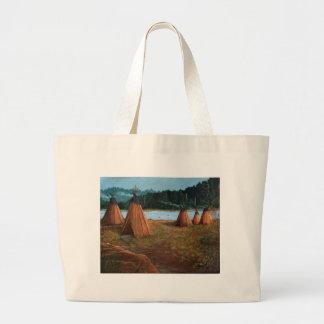 Summer Camp Large Tote Bag