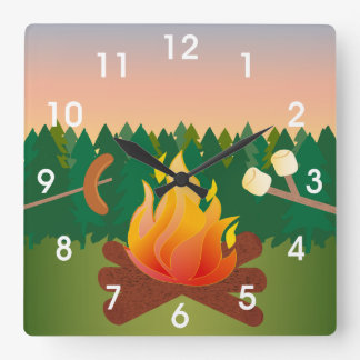 Summer Camp Marshmallow Smores Clocks