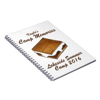 Summer Camp Memories Smore Smores Photo Album Spiral Notebooks
