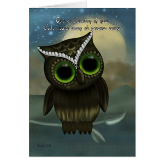Summer Camp Owl Be Thinking Of You, Cute Owl Card