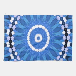 Summer Celebration (blue) Tea Towel