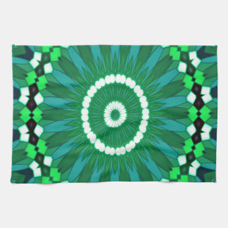 Summer Celebration (green) Tea Towel
