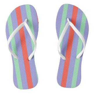 Summer circus top stripes thongs