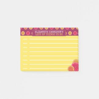 Summer Citrus Fruit Tropical To Do List Custom Post-it Notes