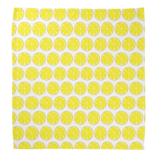 Summer Citrus Lemon Bandanna