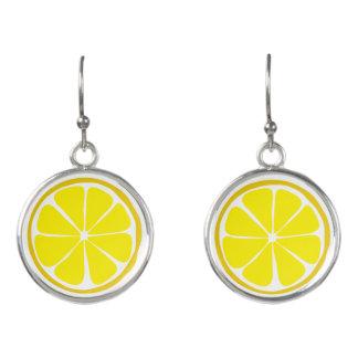 Summer Citrus Lemon Earrings