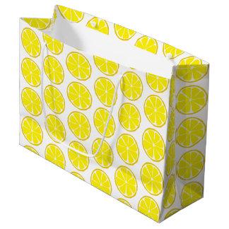 Summer Citrus Lemon Gift Bag - LARGE
