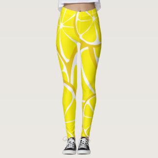 Summer Citrus Lemon Leggings - Bold Print