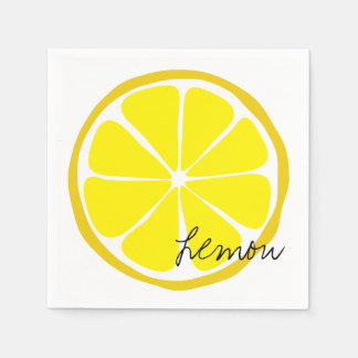 Summer Citrus Lemon Paper Napkin