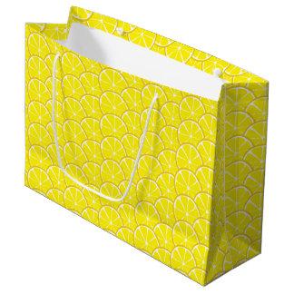 Summer Citrus Lemon Slices Gift Bag - LARGE