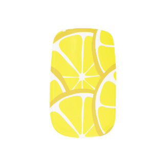 Summer Citrus Lemon Slices Nail Art