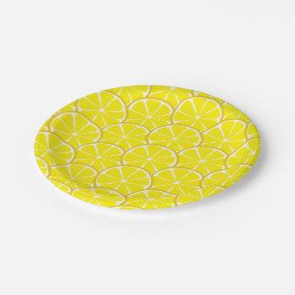 Summer Citrus Lemon Slices Paper Plates
