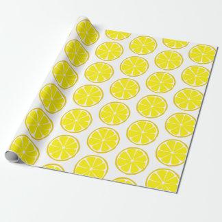 Summer Citrus Lemon Wrapping Paper