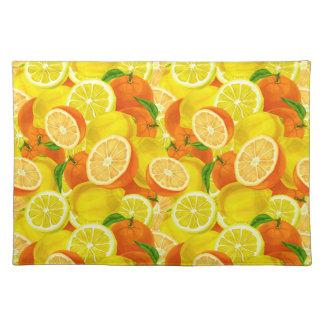 Summer Citrus Lemons & Oranges WhimsicalArtwork™ Placemat