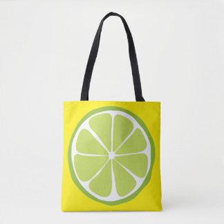 Summer Citrus Lime on Lemon Tote