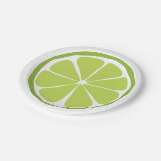 Summer Citrus Lime Paper Plates