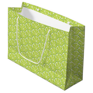 Summer Citrus Lime Slices Gift Bag - LARGE