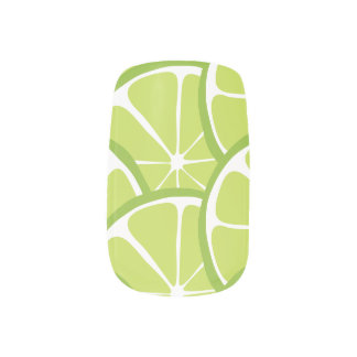 Summer Citrus Lime Slices Nail Art