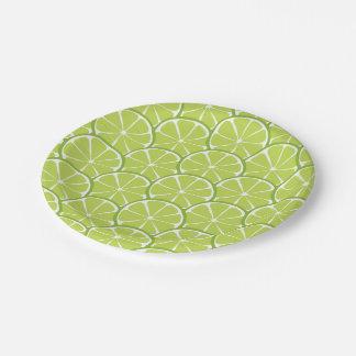 Summer Citrus Lime Slices Paper Plates