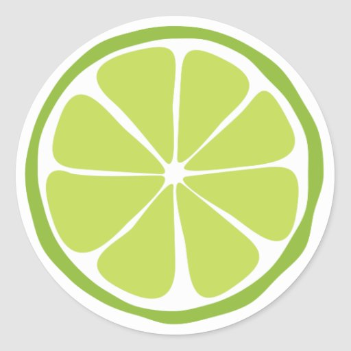 Summer Citrus Lime Stickers