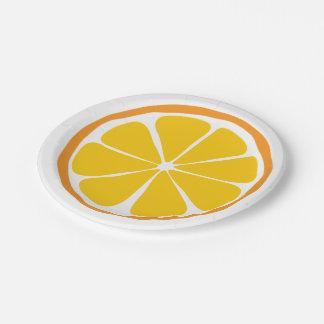 Summer Citrus Orange Paper Plates
