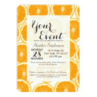 Summer Citrus Orange Slices Card