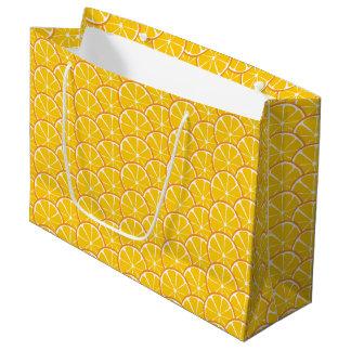 Summer Citrus Orange Slices Gift Bag - LARGE