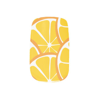 Summer Citrus Orange Slices Nail Art