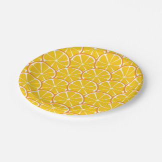 Summer Citrus Orange Slices Paper Plates