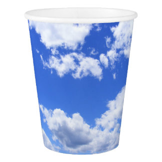 Summer Clouds Paper Cup