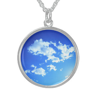 """""""Summer Clouds"""", Sterling Silver Necklace"""