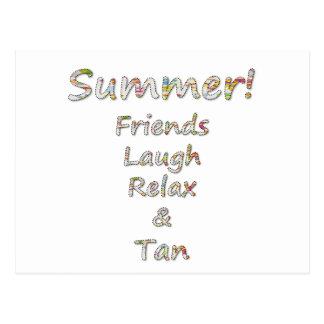 Summer Collection- Friends, Laugh, Relax & Tan Postcard