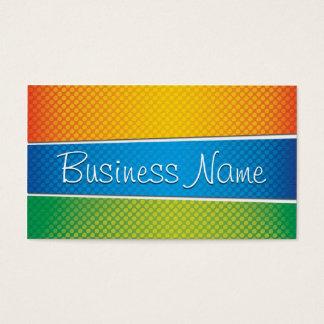 Summer Color Halftone Patterns Business Card