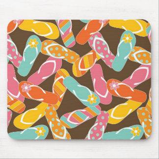 Summer Colorful Fun Beach Whimsical Flip Flops Mousepads