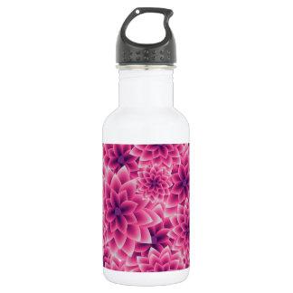 Summer colorful pattern purple dahlia 532 ml water bottle