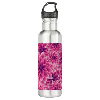 Summer colorful pattern purple dahlia 710 ml water bottle