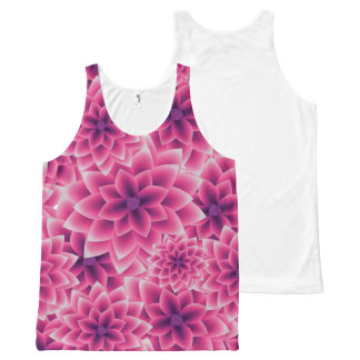 Summer colorful pattern purple dahlia All-Over print singlet